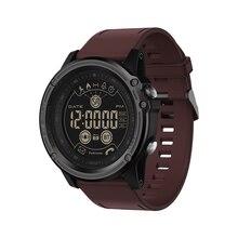 Senbono passometer esporte rastreador cronômetro relógio inteligente 5atm à prova dwaterproof água chamada de controle remoto sms lembrete pulseira masculina