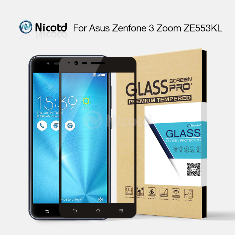 Nicotd Colorful Full Cover Tempered Glass For ASUS Zenfone 3 Zoom ZE553KL 5.5 inch Screen Protector For Asus Zenfone 3 ZE553KLNicotd Colorful Full Cover Tempered Glass For ASUS Zenfone 3 Zoom ZE553KL 5.5 inch Screen Protector For Asus Zenfone 3 ZE553KL