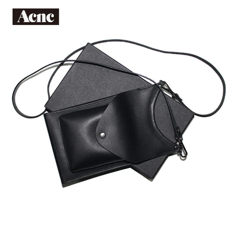 Acnc Legend Genuine Leather Mini Flap Bag ,women Real Leather Shoulder Bag, Leather Phone Bag,free Shipping