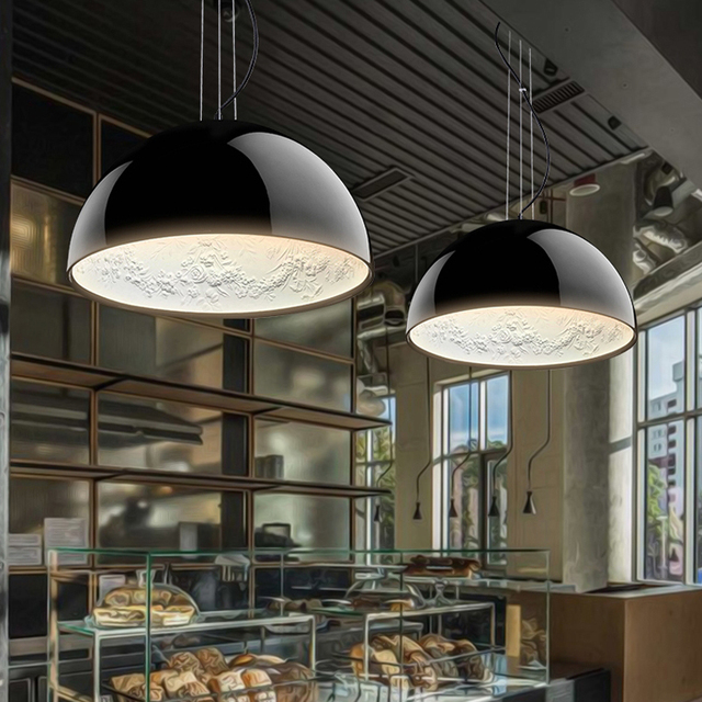 Hanging gardens pendant lights fixture modern sky park hanging lamp home indoor lighting white black cafes