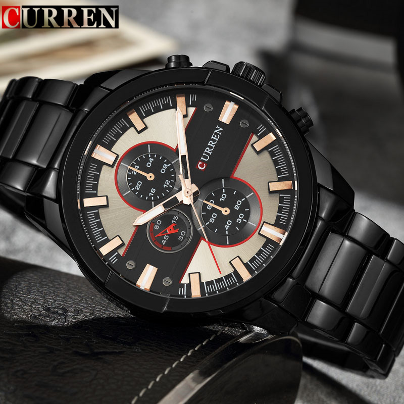 relogio masculino 2017 Curren Mens Watches Top Brand Luxury Black Steel Sport Men Quartz Watch Waterproof Male Clock Wristwatch relogio masculino curren mens watches top brand luxury black stainless steel quartz watch men casual sport clock male wristwatch