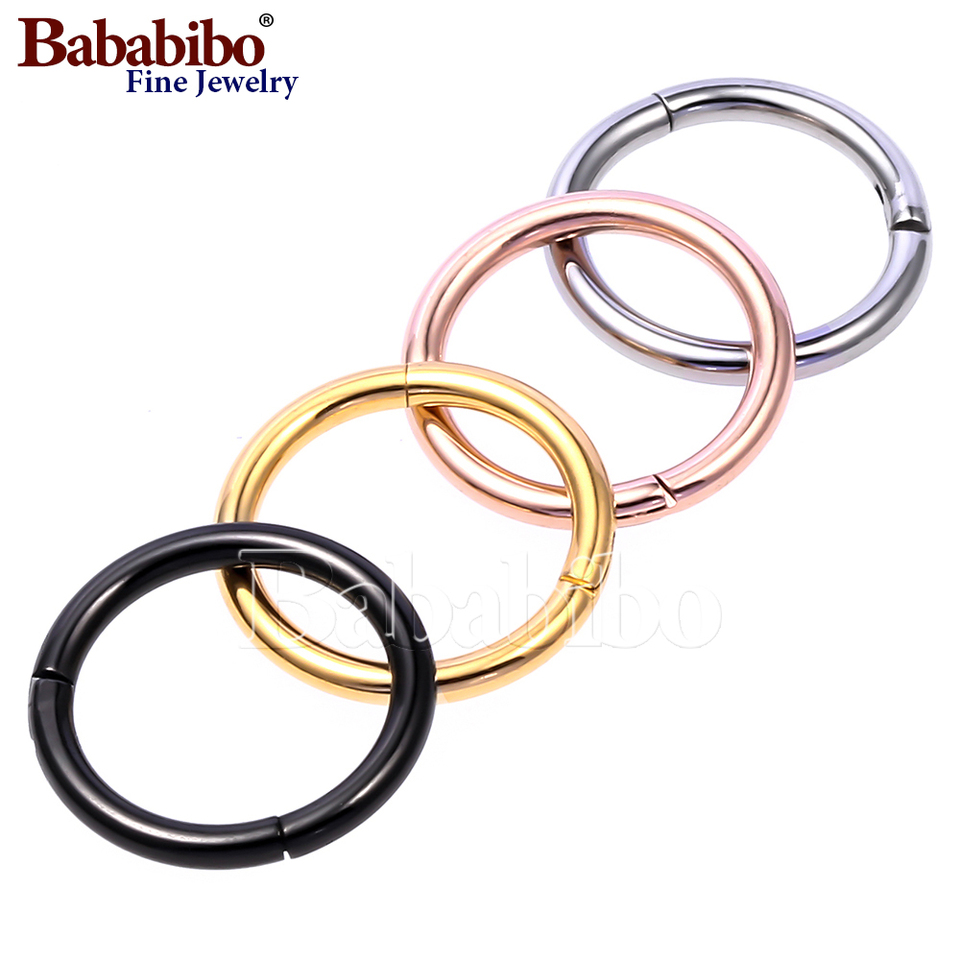 Rose Gold Color Anium Hoop Earrings