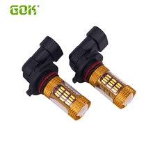 цена на 4pcs HB4 HB3 9006 9005 60SMD 4014 LED Fog Lamp Daytime Running Light Bulb Turning Parking Fog Braking Bulb White External Light