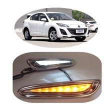 1set car styling LED Daytime Running Light For Mazda 3 Axela Car Fog Lamp DRL 2010 2011 2012 2013
