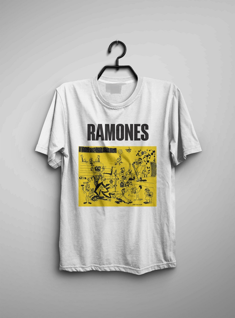 Custom Tees Men 39 S Ramones Vintage Official Half Way To Sanity Tour Cretin Top O Neck Short Sleeve T Shirt in T Shirts from Men 39 s Clothing