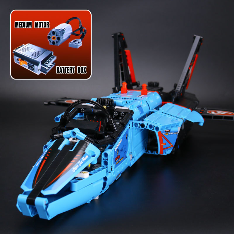 Lepin 20031 Technic AIR RACE JET Building Blocks With Electric Motors Power Functions Model Bricks Compatible With 42066 lepin legoing 42066 1151pcs technic series the air race jet model building blocks bricks gifts toys compatible 20031