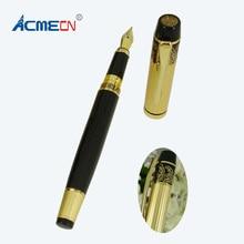 купить Stainless Steel Black Pen 45g Metal Heavy Pen China Element Branded Liquid ink Pen Office and School Supplier Fountain Pen 1709F дешево