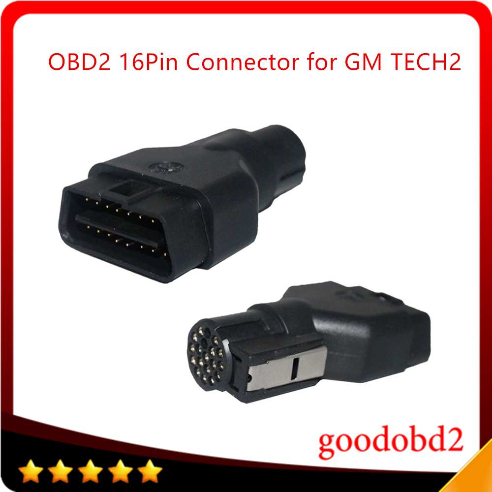 OBD2 16PIN Adapter Connector for GM TECH2 Diagnostic Tool OBDII Auto Scanner Adaptor 16PIN Plug