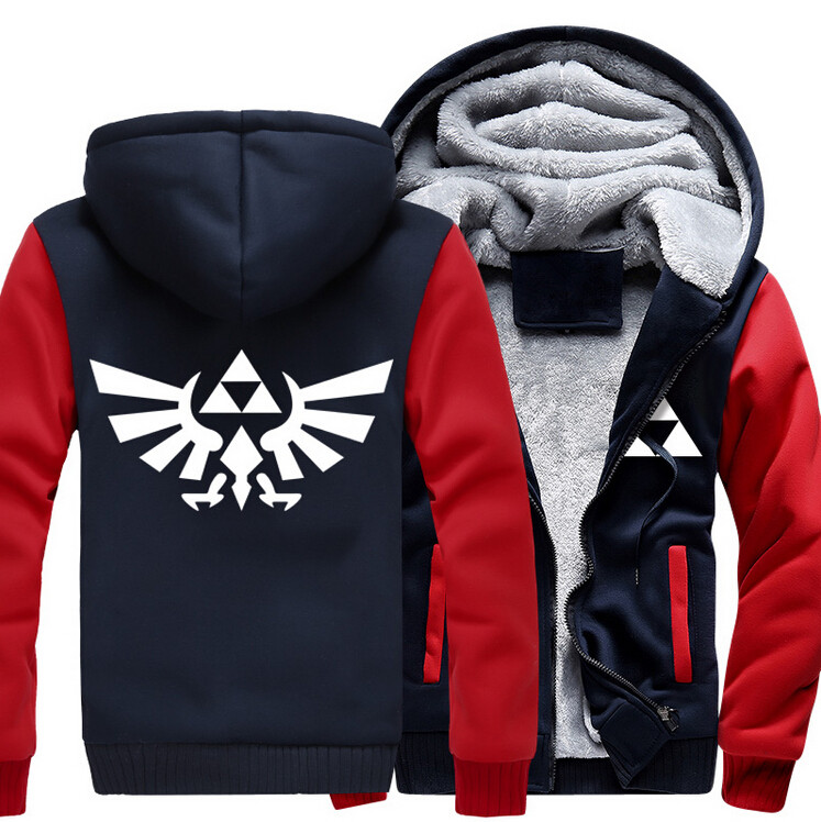 USA size Men The Legend of Zelda Breath of the Wild Hoodie Thicken Jacket  Link Cosplay Coat Clothing Casual Sweatshirts -in Hoodies & Sweatshirts  from Men's ...