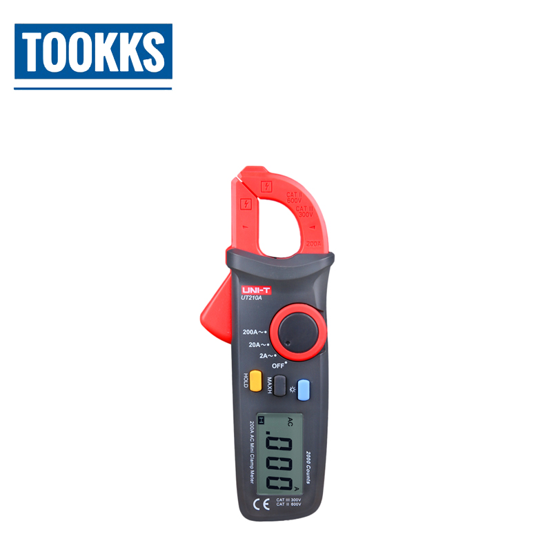 UNI-T UT210A/B/C/D/E Mini Digital Clamp multimeter AC/DC Current Voltage clamp meter multimeter uni t multimeter ut105 automotive multimeter ac dc voltage current resistance test meter handheld multimeter digital multimeter