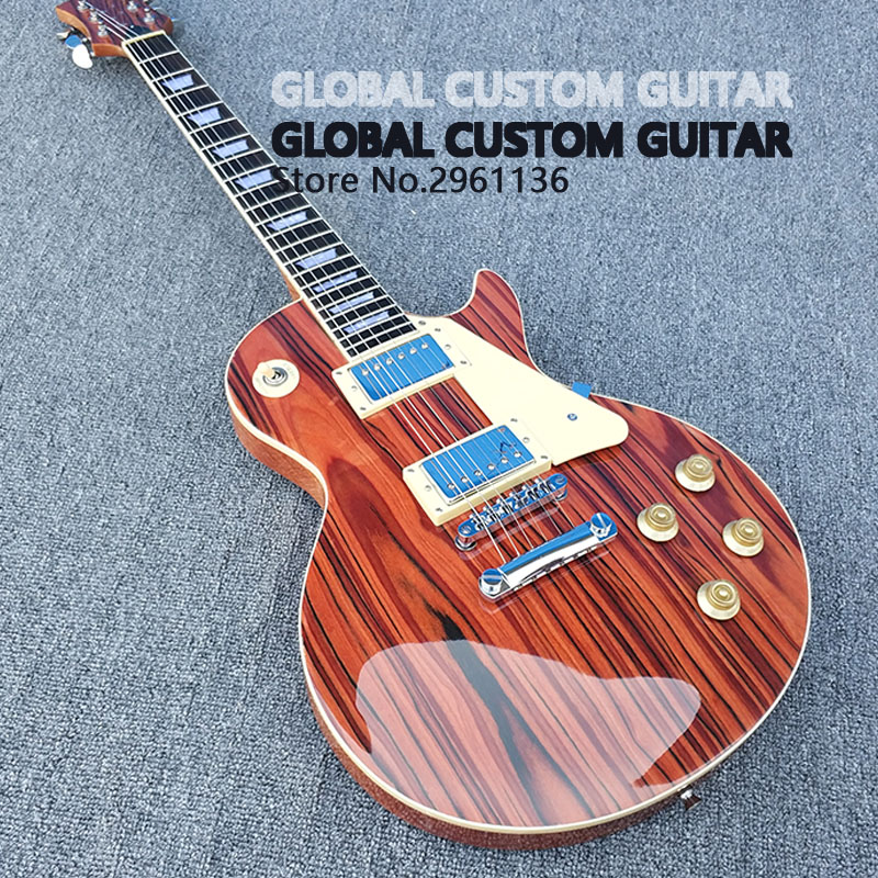 High quality,zebra wood,LP Standard Electric Guitar, Real photos,some countries free shipping,wholesale!! musical instruments wholesale gbson standard les sunburst for paul lp electric guitar chinese tiger stripes free shipping