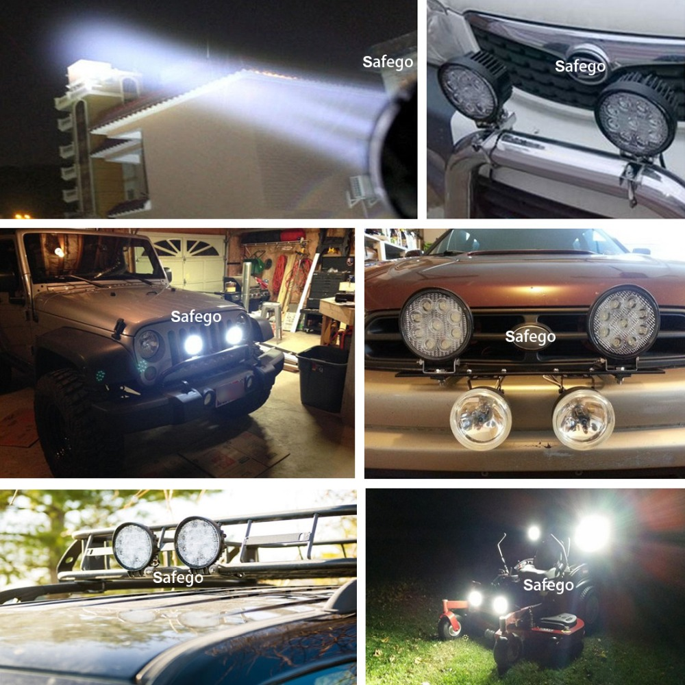 Safego 2x 27W vodila delovna luč terenska svetilka 12V LED traktor - Avtomobilske luči - Fotografija 6
