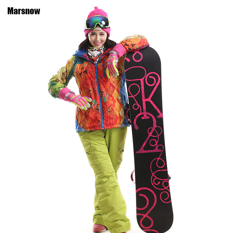 2017 new font b ski b font suit for women winter warm thicken waterproof windproof breathable