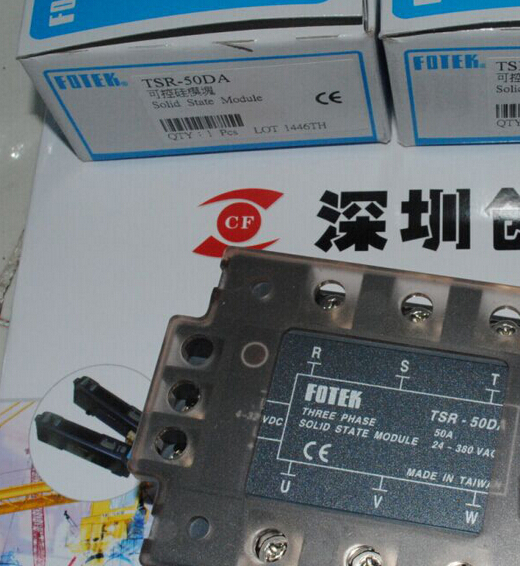 все цены на 100% Original Authentic Taiwan's Yangming FOTEK three-phase solid state relay TSR-50DA онлайн