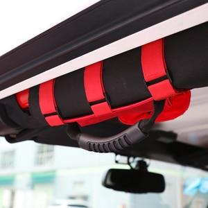 Image 3 - SHINEKA Auto Roll Bar Haltegriff mit Sonnenbrille Halter Lagerung Tasche Armlehne Tasche Tasche Zubehör für Jeep Wrangler CJ TJ JK JL