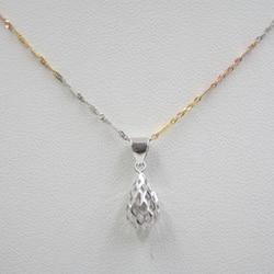 Recién llegado, colgante de oro blanco puro Au750 de 18 K, solo colgante de gota para mujer 1-1,3g