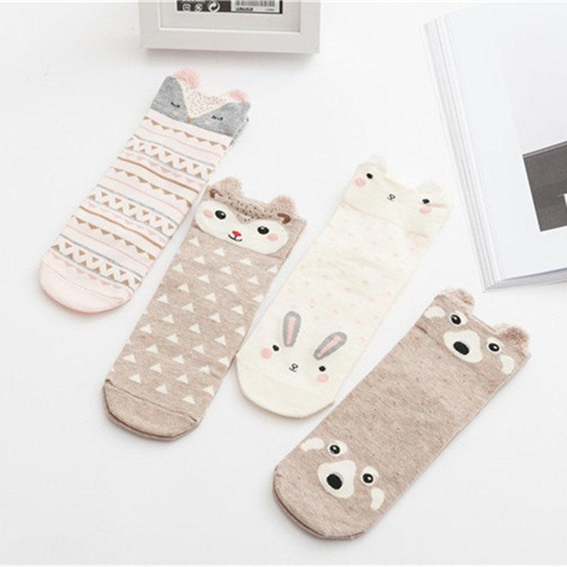 2019 Lovely Small Ear Cartoon Animal Socks Cute Rabbit Panda Fox Harajuku Style Meias Funny Sock Gifts Fashion Style Sox Hotsell Latest Fashion Underwear & Sleepwears