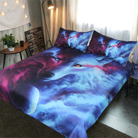 239473843e BEST WENSD Soft Comfortablev 3d Starry Wolf Bedding King Duvet Cover Sets  Cosmic Weeping Animals Bedspreads