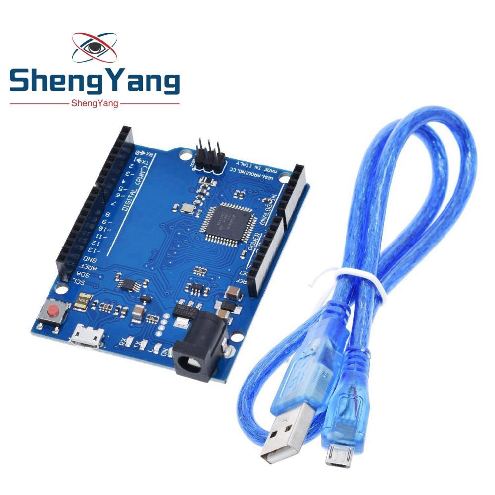 Leonardo R3 ATmega32U4 Micro USB Compatible to Arduino without Cable