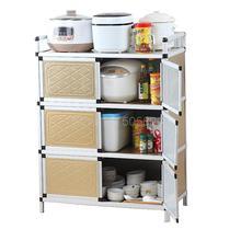 Кухонный шкаф из нержавеющей стали, многофункциональный шкаф для хранения, шкаф для хранения, шкафчик для микроволновой печи
