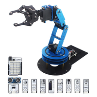6DOF Mechnical Secondary Development Robot Arm with Servo and Controller for DIY Unassembled RC Parts Toys