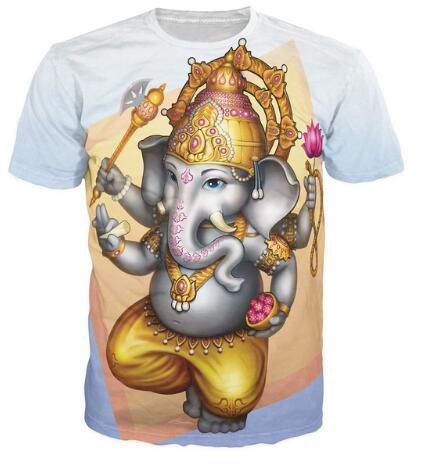 Mujeres/Hombres 3D Impreso Harajuku Trajes Camiseta de la deidad Hindú Ganesha de inicios ganesha Tops Jersey