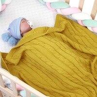 Candy Color Baby Blanket Knitted Newborn Swaddle Wrap Blankets Super Soft Toddler Infant Bedding Quilt Basket Stroller Blankets