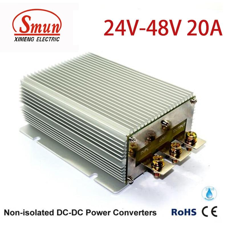 DC-DC Convertitore di Potenza 24 v a 48 v 20A 960 w Impermeabile per Auto ElettricaDC-DC Convertitore di Potenza 24 v a 48 v 20A 960 w Impermeabile per Auto Elettrica