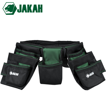 JAKAH Multifunction Tool Bag 1680D Double Layers Oxford Fabric  Repair Bags Waist Pack Bag For Electrician Household With Belt