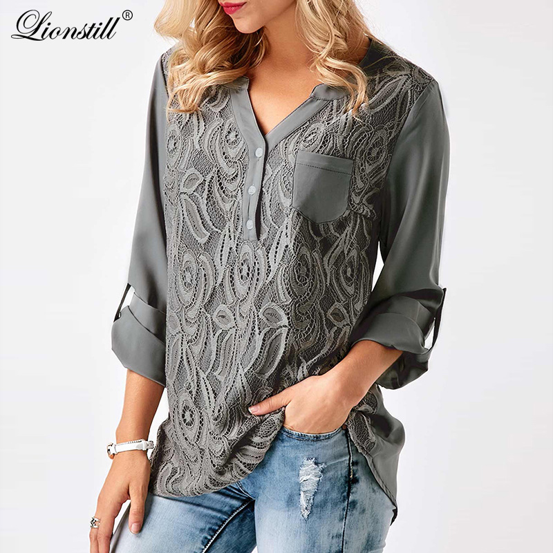 Fashion Chiffon Shirt Y Neck Button Plus Size XXXL 3XL Brand New shirts Summer Casual Shirts Women Blouse Clothes Tops