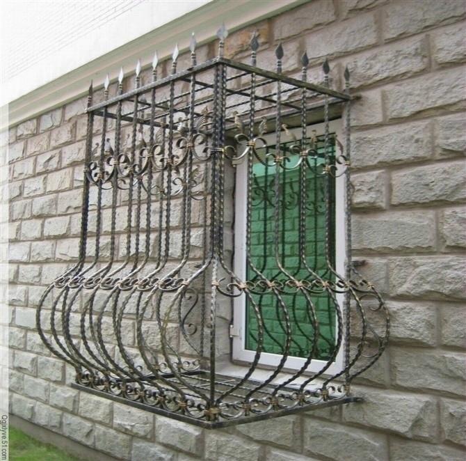 Wrought Iron Steel Glass Window Metal Glass Window Wrought