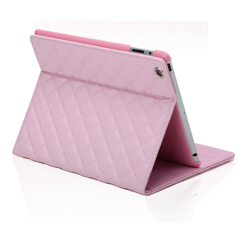 Case for Apple iPad 9 7 inch 2017 Crown Grid PU Leather Full Body Tablet Stand Cover Coque for iPad Model A1822 A1823 Film Pen in Tablets e Books Case from Computer Office
