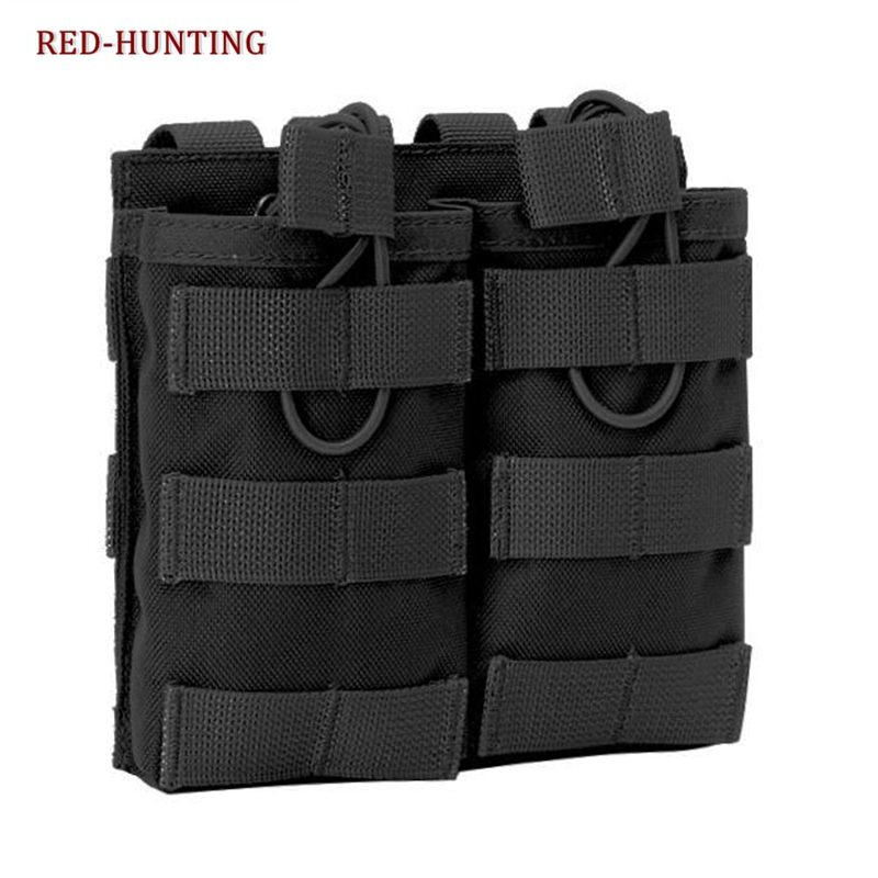 Military Tactical Molle Mag Pouch Magazine Double Open Top Airsoft Paintball