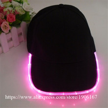 Cool LED Light Baseball Cap Party Christmas Luminous Hat Caps Hip Hop Jazz Hat Flashing Stage Dance Headwear Birthday Gift