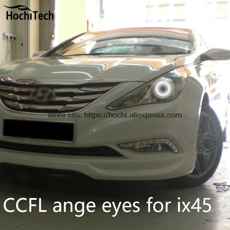 Hochitech White 6000k Ccfl Headlight Halo Angel Demon Eyes Kit Angel Eyes Light For Hyundai
