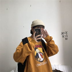 YouGeMan Best Friends Sweatshirt Autumn Winter Ulzzang Harajuku Vintage Funny Fleece Pullover Hoodies Women Long Sleeve Sweat 4