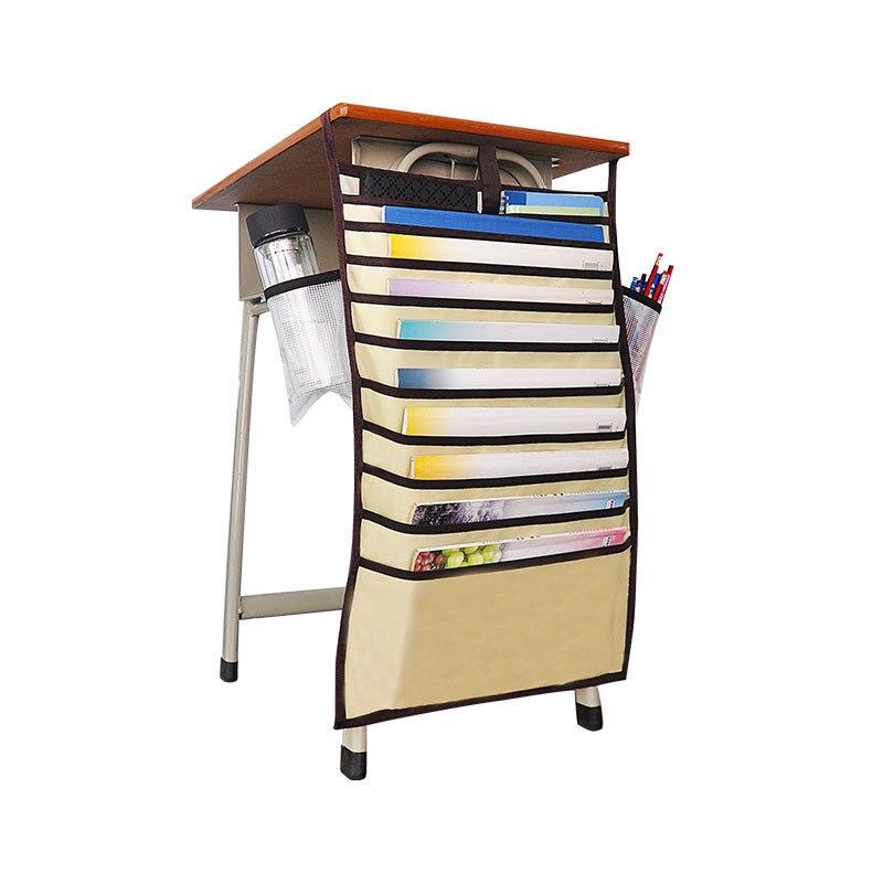 Многофункциональная подвесная сумка для книг, Студенческая сумка для хранения книг, регулируемая сумка для хранения книг, органайзер для книг - Цвет: Цвет: желтый