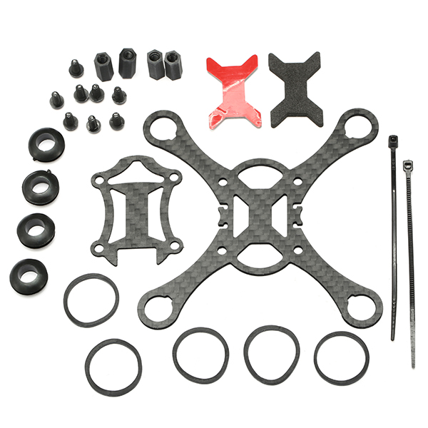 Smart 100mm Carbon Fiber Frame Kit Micro FPV for DIY RC Racing Quadcopter Drone F19336
