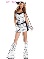 New Sexy Leopard Cat Suits Adult Costumes With Tail Fancy Cosplay Costume For Women Halloween Party