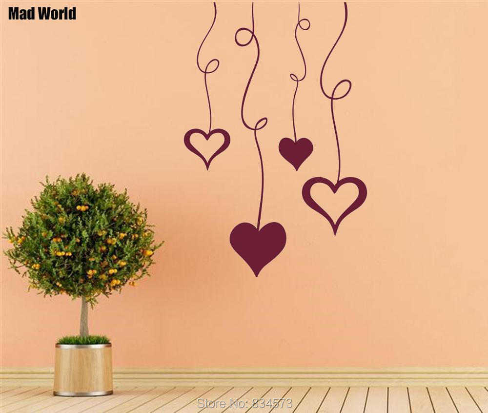 Funky Heart Wall Decor Illustration - Wall Art Collections ...