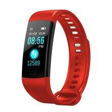 スマートブレスレットスポーツリストバンドメンズスマート手首時計 Pedometre 腕時計心拍数モニター Android 5.1 Ios 8 または上記