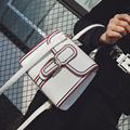 Bolsos Mujer Shoulder Bag Handbag Black and White Striped Bag Women Famous Brands PU Leather Messenger Handbags for Women Flap