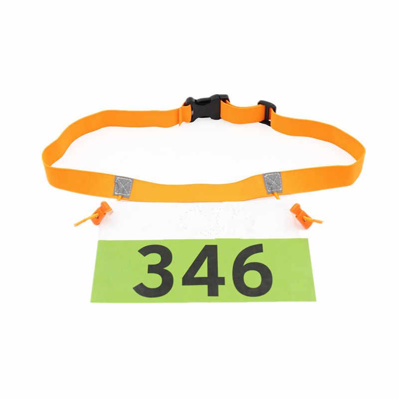 Execução Pacote de Cintura Das Mulheres Dos Homens Titular Saco de Correr Maratona de Triathlon Raça Número Cinto Pano Bib com Gel 6 Loops Startnummernband