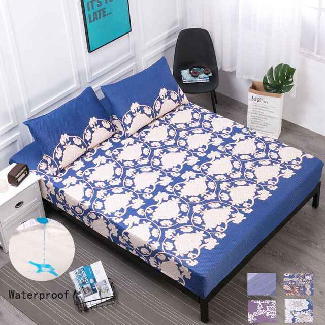 Waterproof Mattress Cover Fitted Bed Sheet Bed Covers Sheets