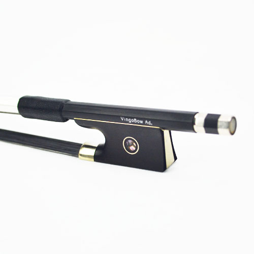 FREE SHIPPING 3/4 Size 100VB Carbon Fiber VIOLIN BOW Good Quality Ebony Frog And Black Horsehair
