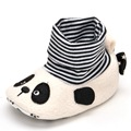 Estamico Winter Warm New Style Toddlers Snow Boots Catoon Panda Pattern Stripe Cotton Comfortable Unisex Baby Clothes Boots