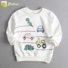 The new childrens dinosaur cotton terry long-sleeved T-shirt, sports and leisure round neck sweater special  free shipping
