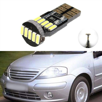 1x W164 T10 W5W LED 4014SMD Wedge Light Sidelight No Error For Citroen C4 C5 C3 Grand Picasso Berlingo Xsara Saxo C1 C2 ds3 image