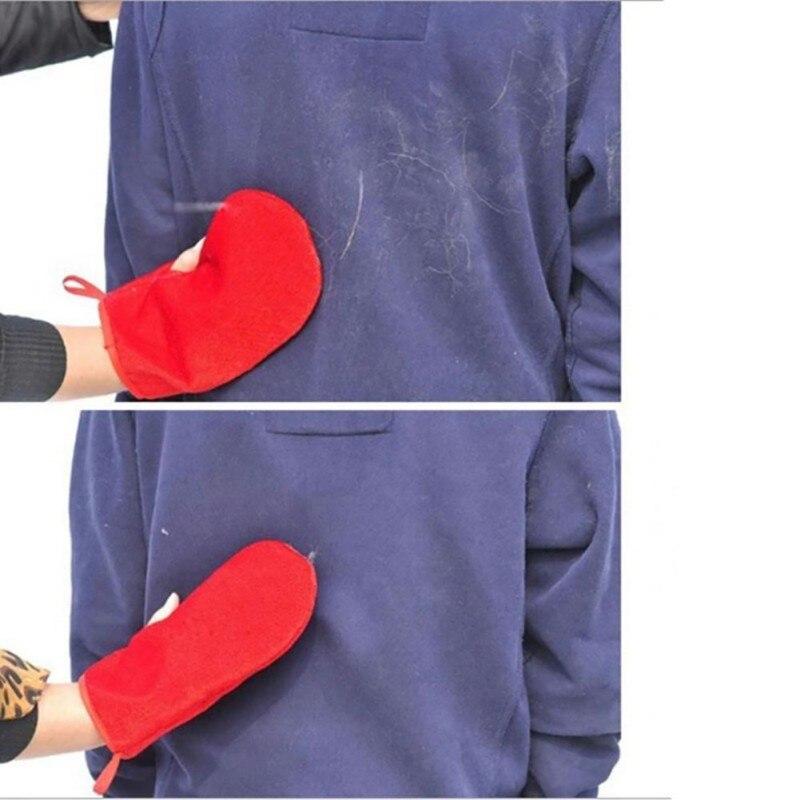 Diligente Cepillo Guante Limpieza Reutilizable Pet Pelo Gatos Herramientas Pelo Mágico Guante Pegajoso Ropa Lana Atrapasueños Alfombra Pelusa Pegar