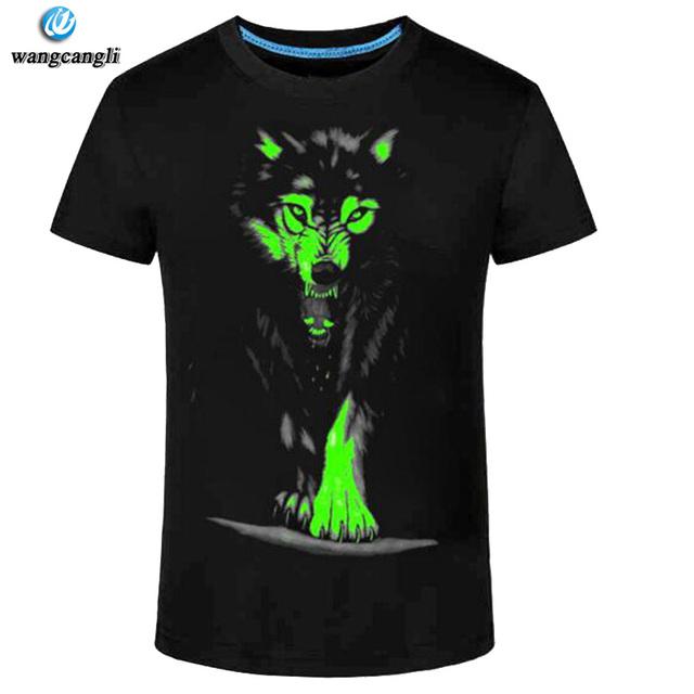 2017 Summer New 3D t-shirt men Leisure Fluorescent Personalized Short-sleeve Luminous Tee Shirt Tops Men T-shirt 3XL clothes